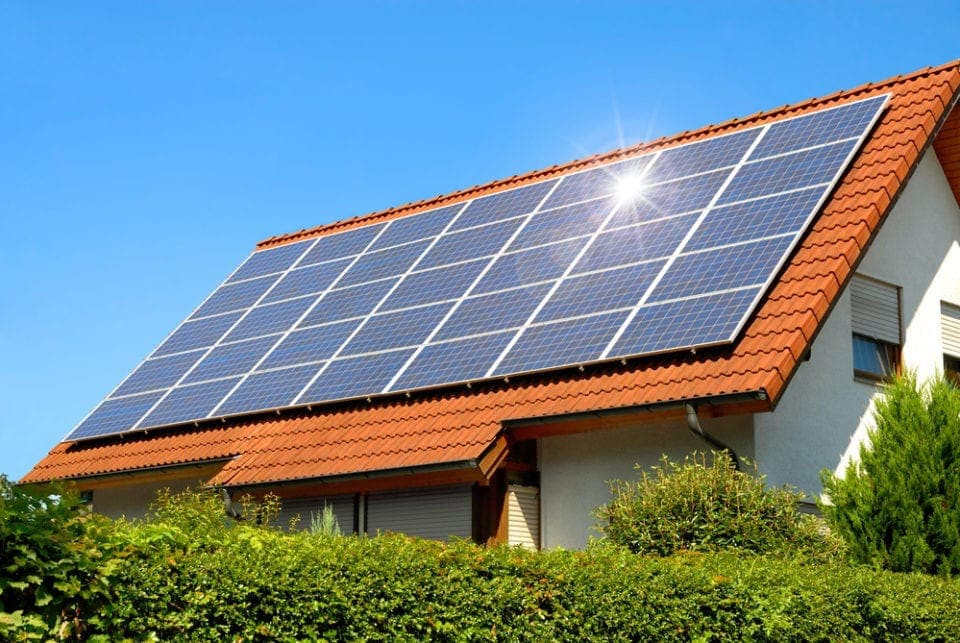 multiple-solar-panels-on-a-house-e156086
