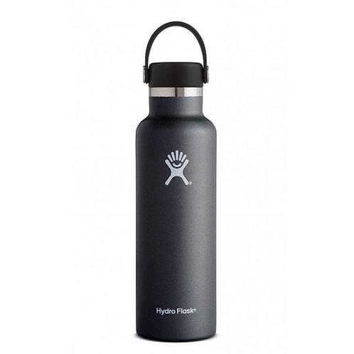 Hydro Flask zwart standaard dop (621ml)