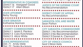 Sarasota Dem and Rep Voter 2020 recommendations: