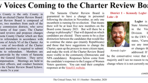 The Charter Review Board: Candidates and issues