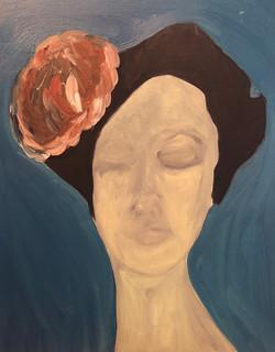 Mujer con tocado