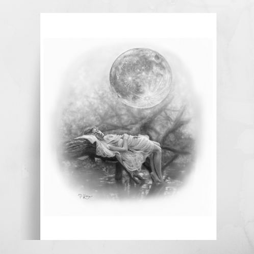 'Just You & I' Moon Luster Print