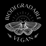 Biodegradable and vegan butterfly icon