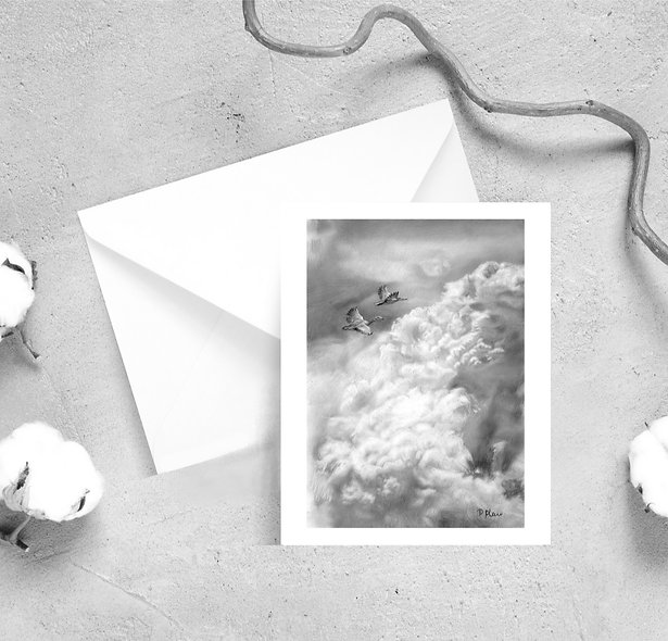 'Alive for a Day' Flying Birds Greeting Cards