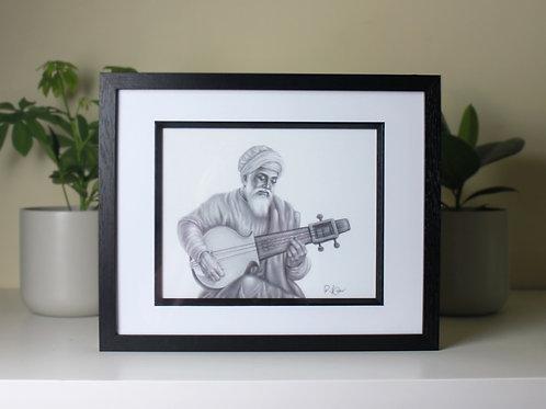 Bhai Mardana Ji Art Print - Limited Time Only