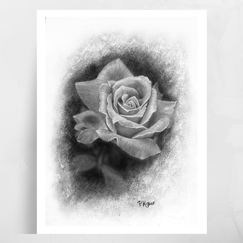 Single Rose Luster Print
