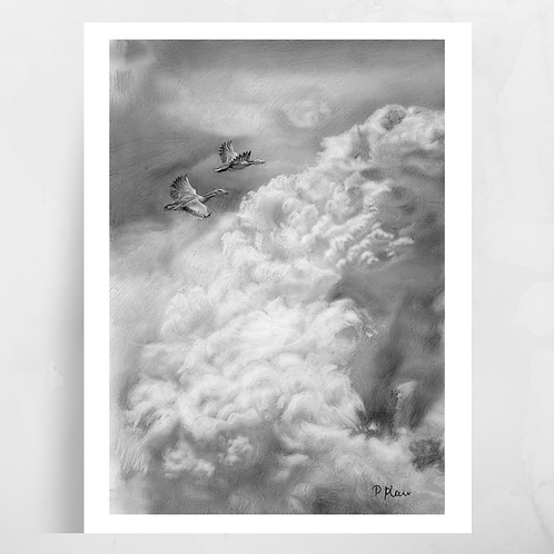'Alive for a Day' Flying Birds Print