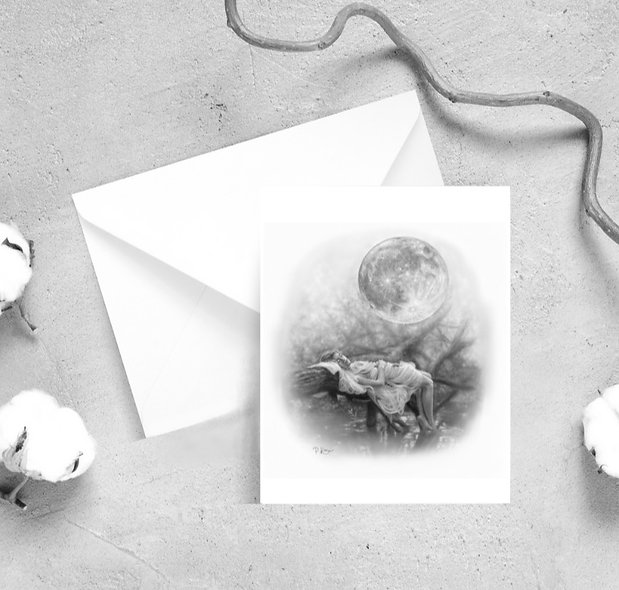 'Just You & I' Moon Greeting Cards