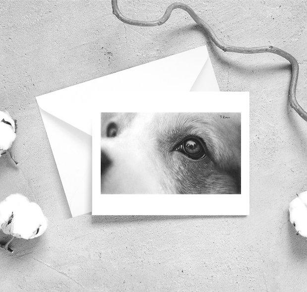 'Wonder' Dog Satin Greeting Cards