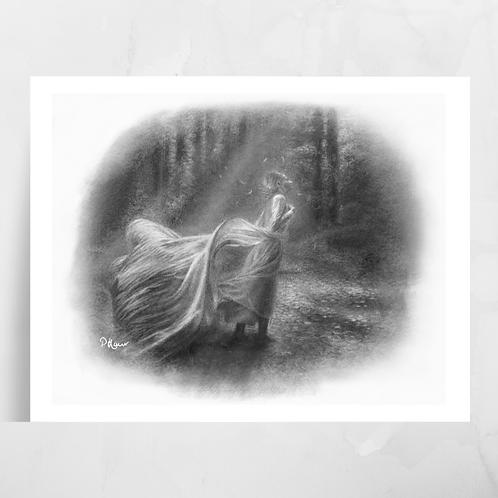 'Home is Far Away' Singhni Luster Print