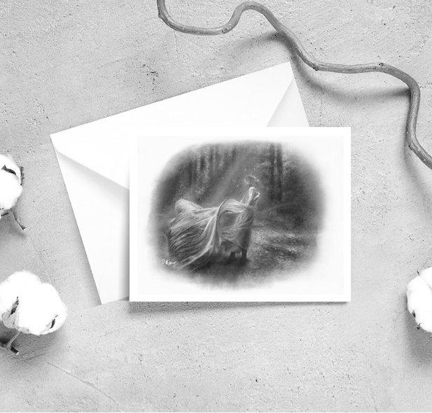 'Home is Far Away' Kaur Greeting Cards