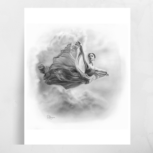 'In a Dream' Flying Woman Print