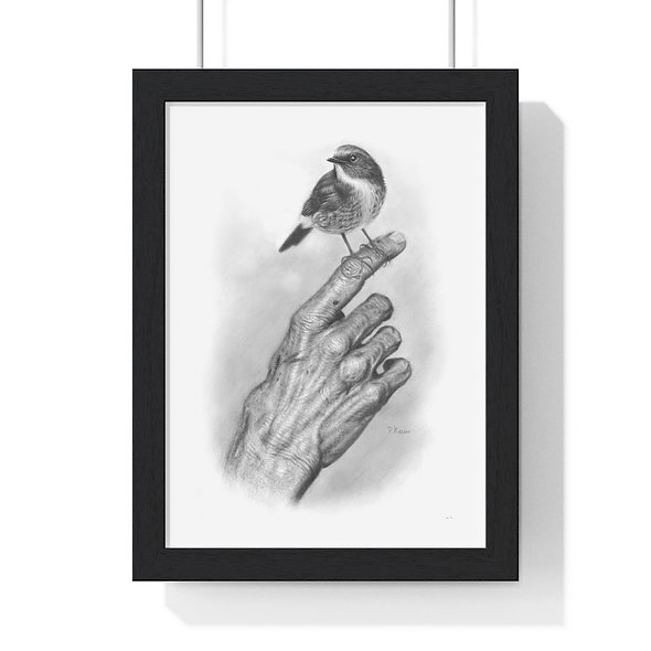 'I Have Learnt to Tread Gently' Premium Framed Bird Print