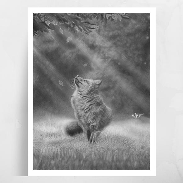 'Autumn Hope' Luster Fox Print
