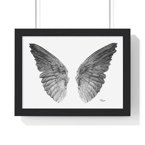 Premium Framed Angel Wings Print