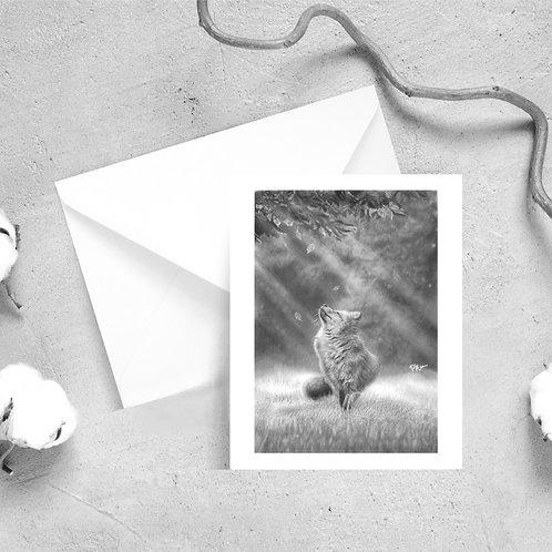'Autumn Hope' Fox Greeting Cards