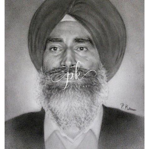 Portrait drawing of Jaswant Singh Khalra