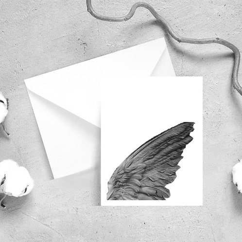 Angel Wing Detail Satin Greeting Cards