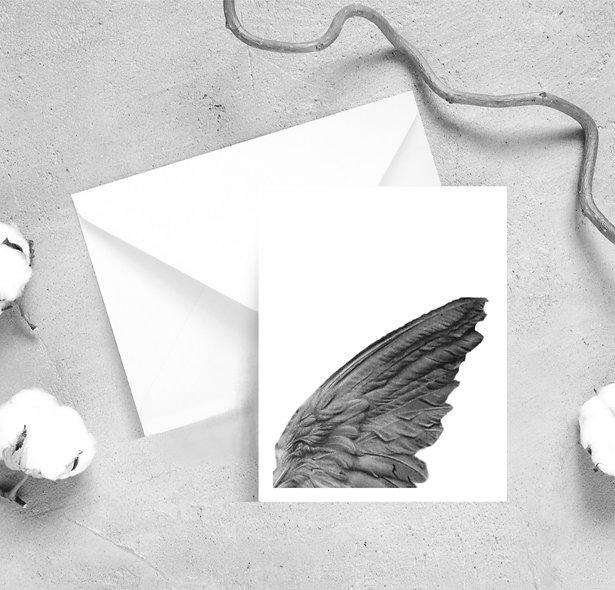 Angel Wing Detail Satin Greeting Cards