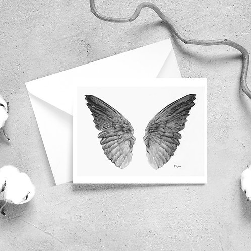 Angel Wings Satin Greeting Cards