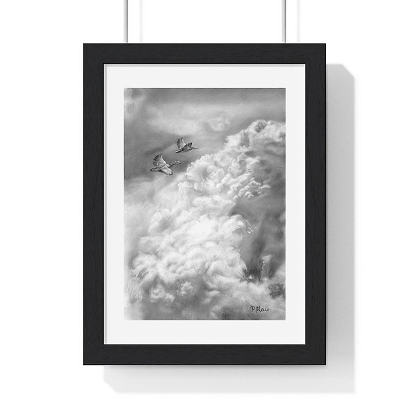'Alive for a Day' Premium Framed Flying Birds Print