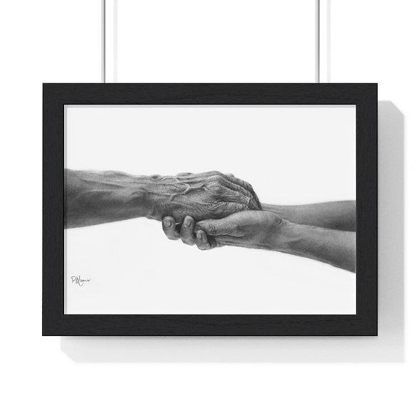 'Never Alone' Premium Framed Print