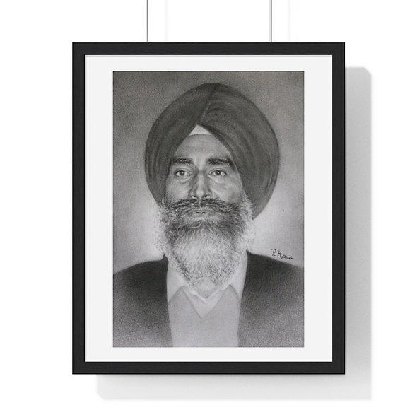 Jaswant Singh Khalra Premium Framed Print