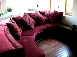 Library sofa with storage