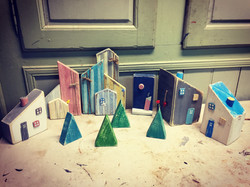 Xmas trees, houses and image holders