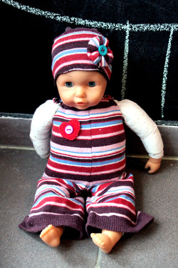 Recycled sock doll clothes