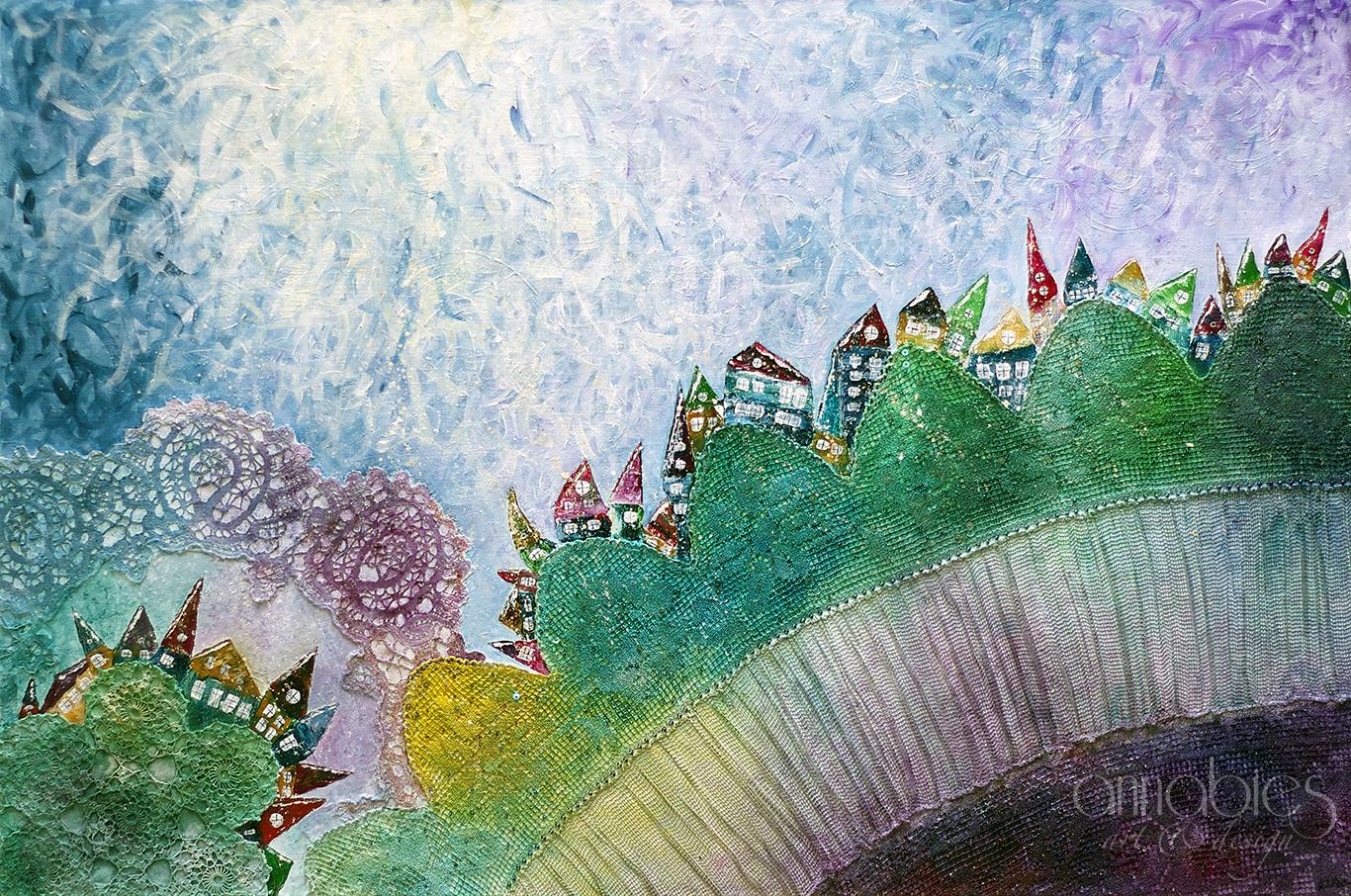 Among hills