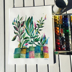 plants and houses