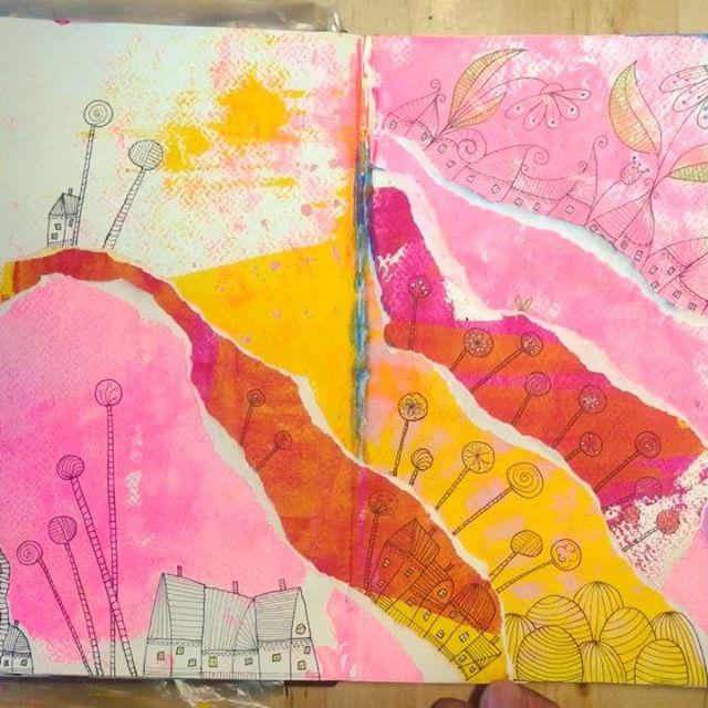 Sketch a story #art #annabies #annasagok #sketchastory #artjournal #houseseverywhere #queenking #sup