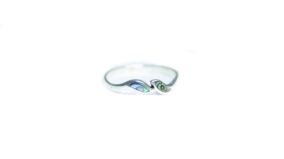 Abalone Soft Wave Ring