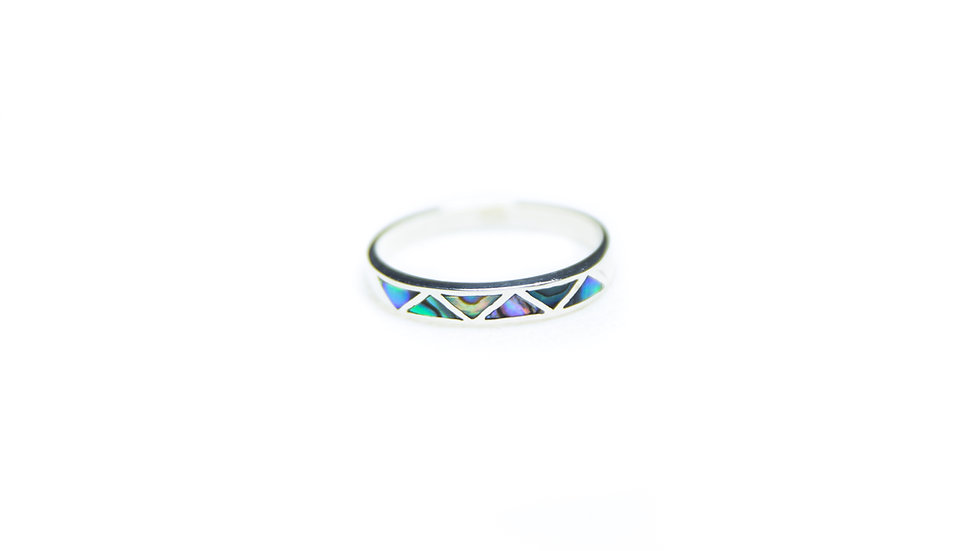 Abalone Ocean Wave Ring