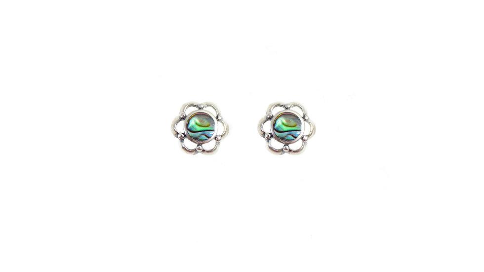 Abalone Flower Earrings