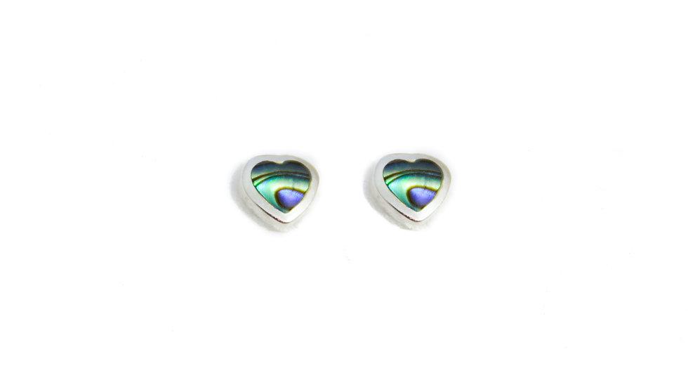 Abalone Shell Heart Earrings