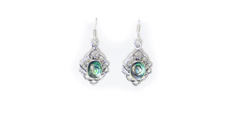 Abalone Knot Earrings