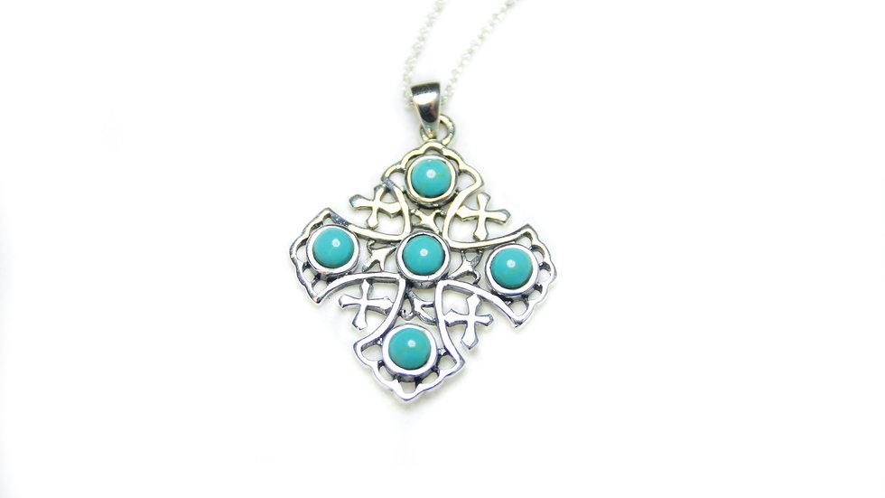 Turquoise Jerusalem Cross