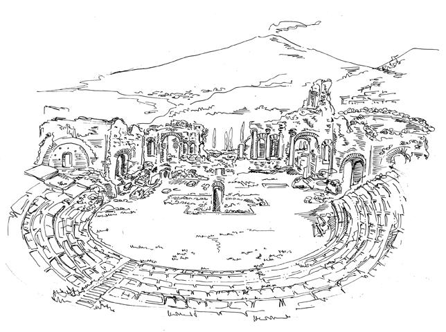 Taormina, teatro antico