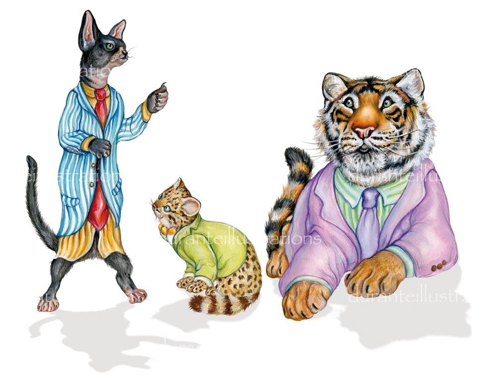 gatti e tigre
