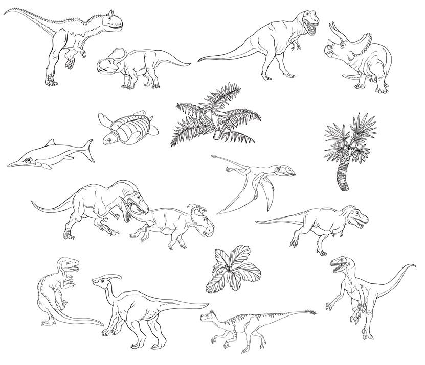 sticker dinosauri