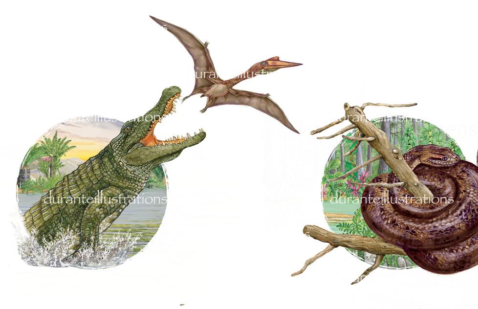deinosuchus andtitanoboa