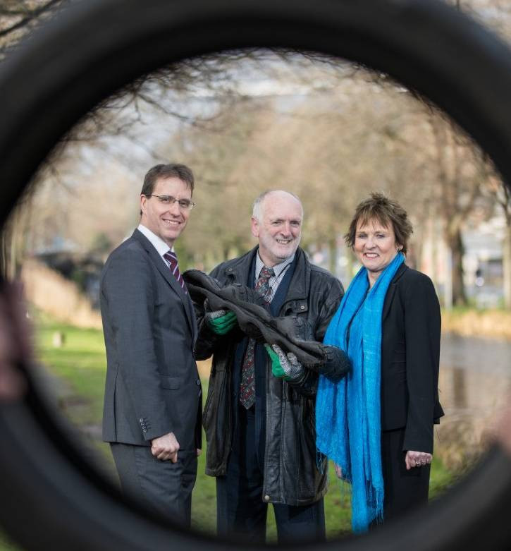 At the launch of 'Ingenuity' were David Merriman, head of enterprise development at Bank of Ireland; Peter Dunne of Carbon Conversion Technology, a previous participant in the ISAX mentoring programme; and Anne Connolly, chief executive of ISAX