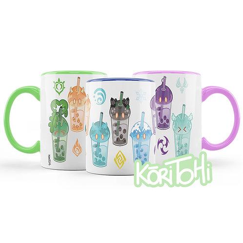 Genshin Impact Slime Bubble Tea Mug Taza