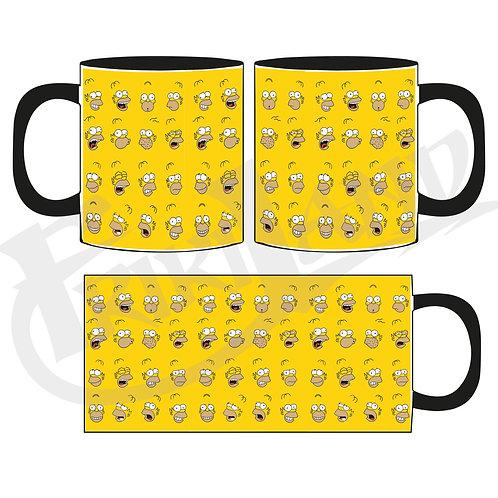 Homero faces mug