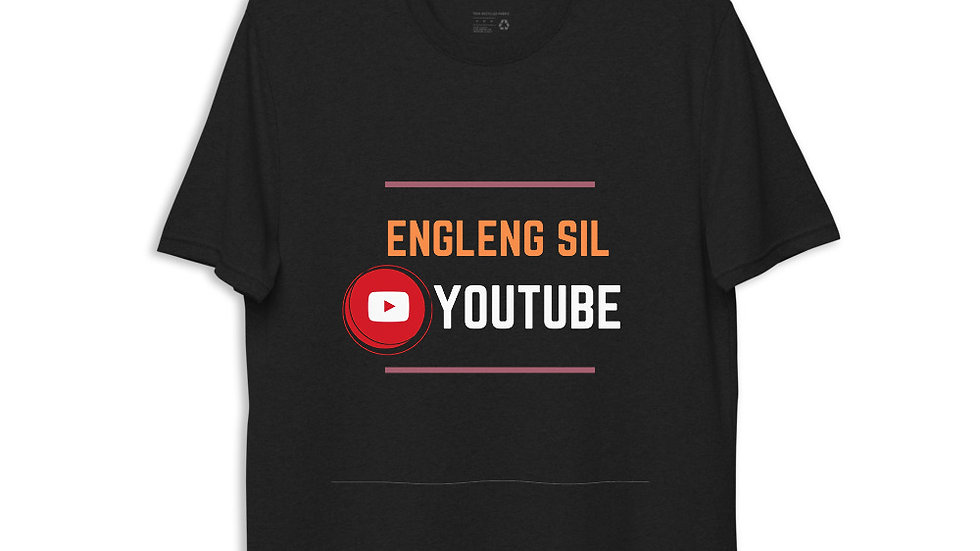Unisex recycled t-shirt engleng sil edition