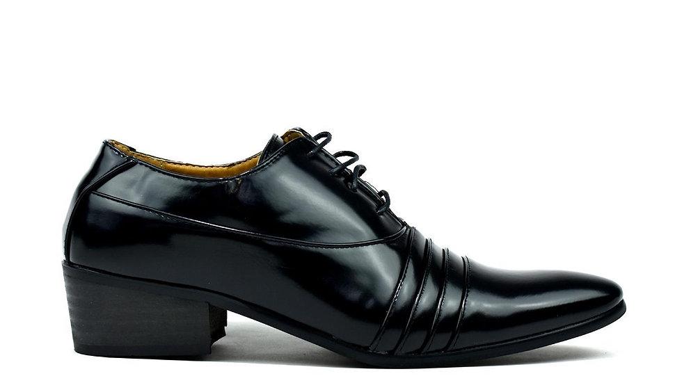 Men's Cuban Heel Formal Lace Up Shoes Black