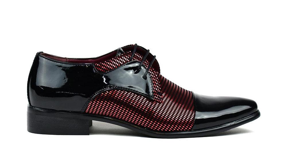 Men's Diamond Party Shoes Black/Red