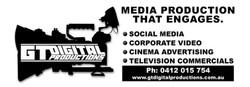 GT Digital Logo White on Black FULL DISC